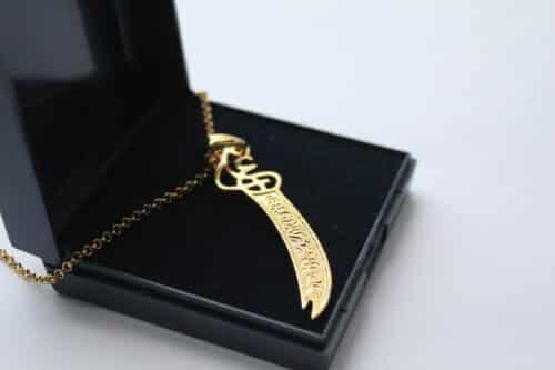 Zulfiqar Gold Plated Necklace