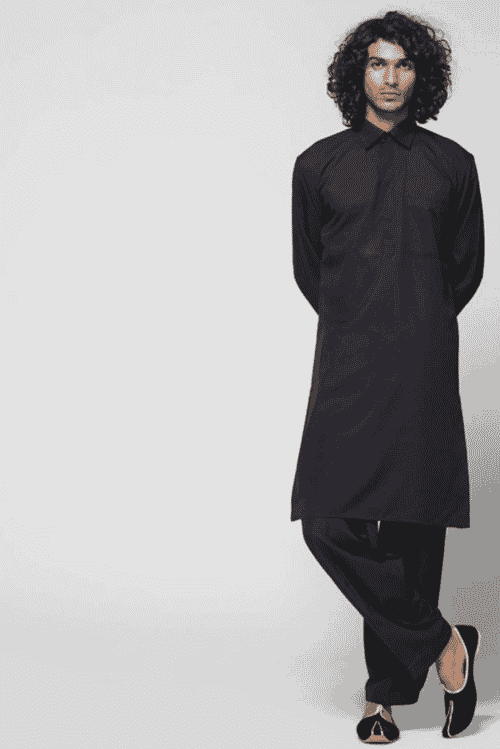 Black Kurta Shalwar for Muharram Shia Men