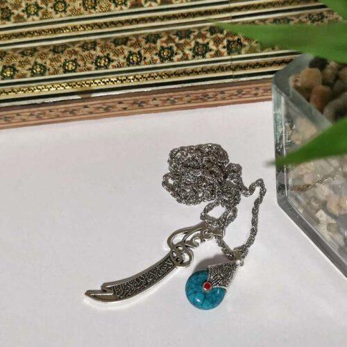 Zulfiqar Necklace with Turqoise Firoza